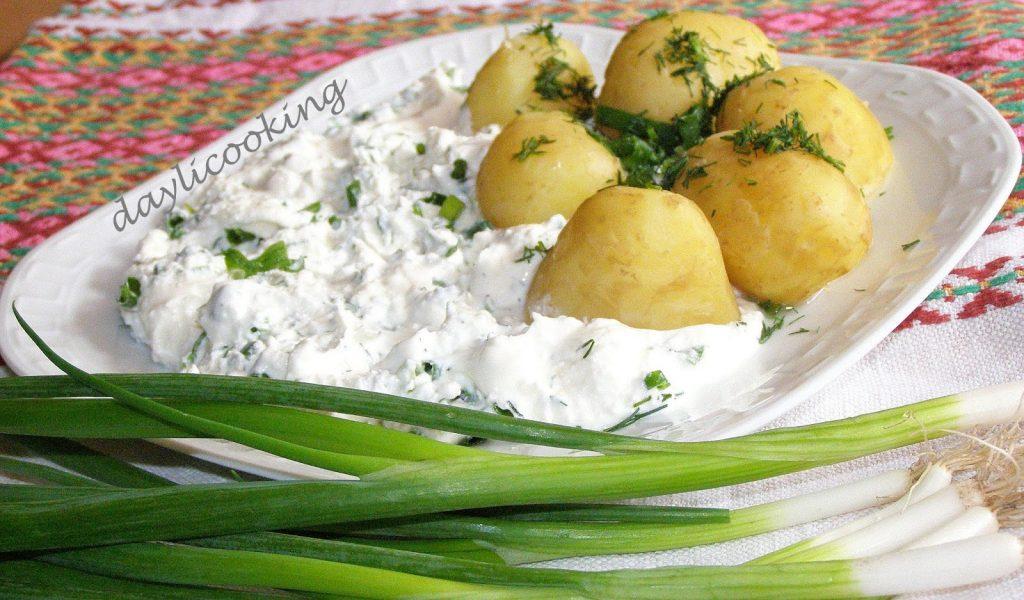ziemniaki z twarożkiem ziołowym, wielkopolskie danie, regionalne potrawy, daylicooking