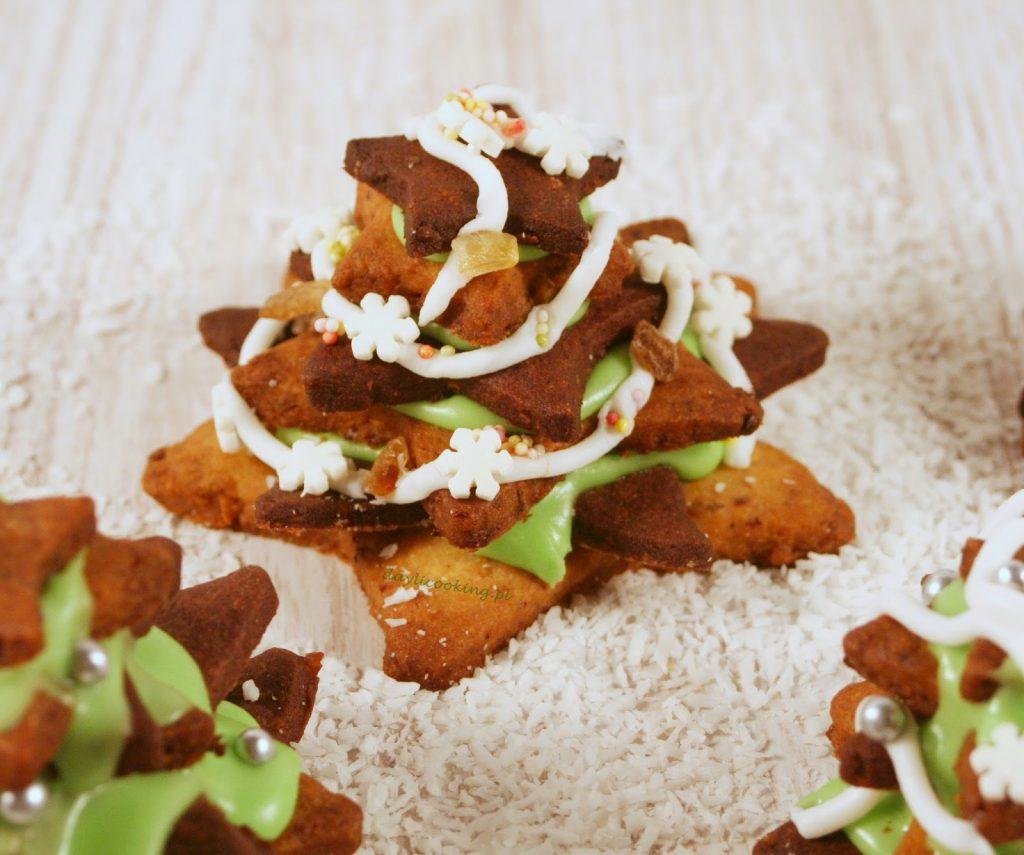 Prosty najlepszy przepis na orzechowe ciasteczkowe choinki świąteczne ciastka