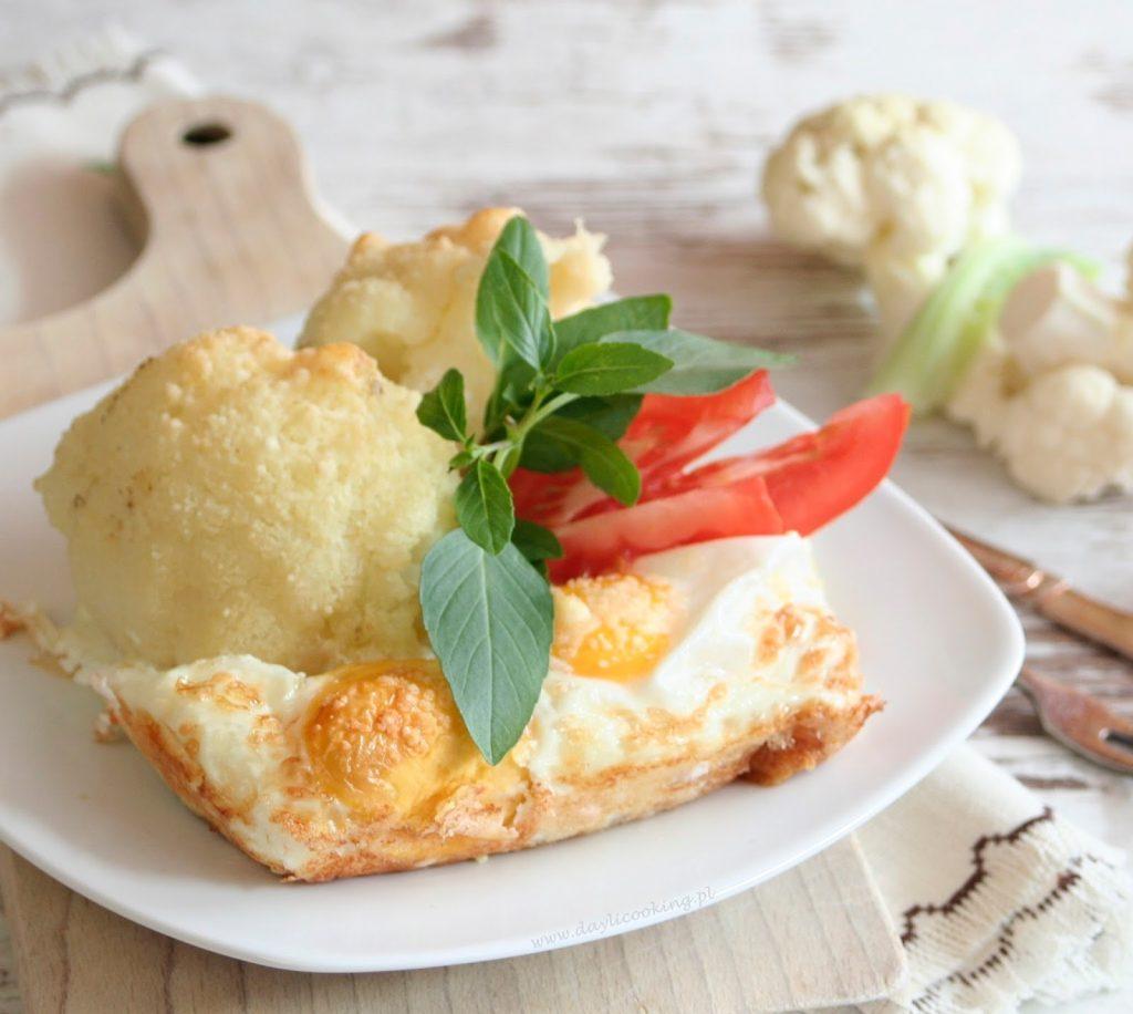 kalafior, warzywa zapiekane, obiad