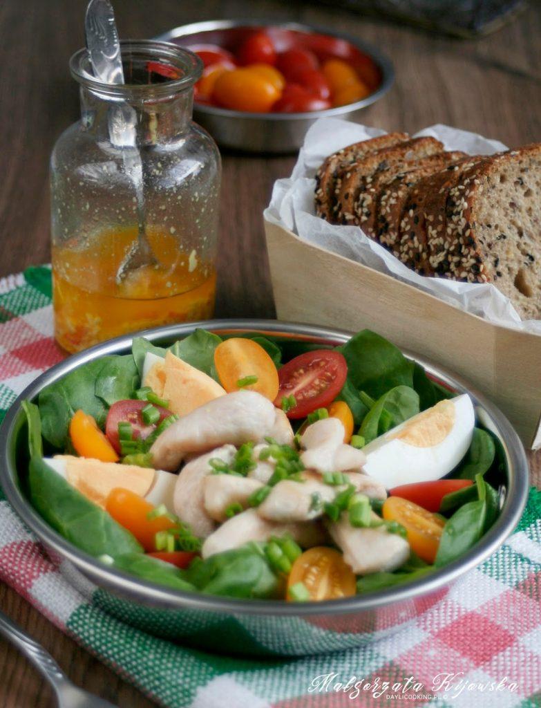daylicooking, zielone śniadanie, zdrowy lunch, szpinak na surowo, Małgorzata Kijowska