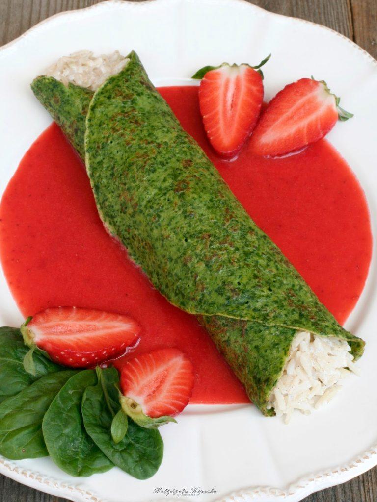 naleśniki ze szpinakiem, jak zrobić zielone naleśniki, kolorowe danie, kolorowe naleśniki, dla dzieci, daylicooking
