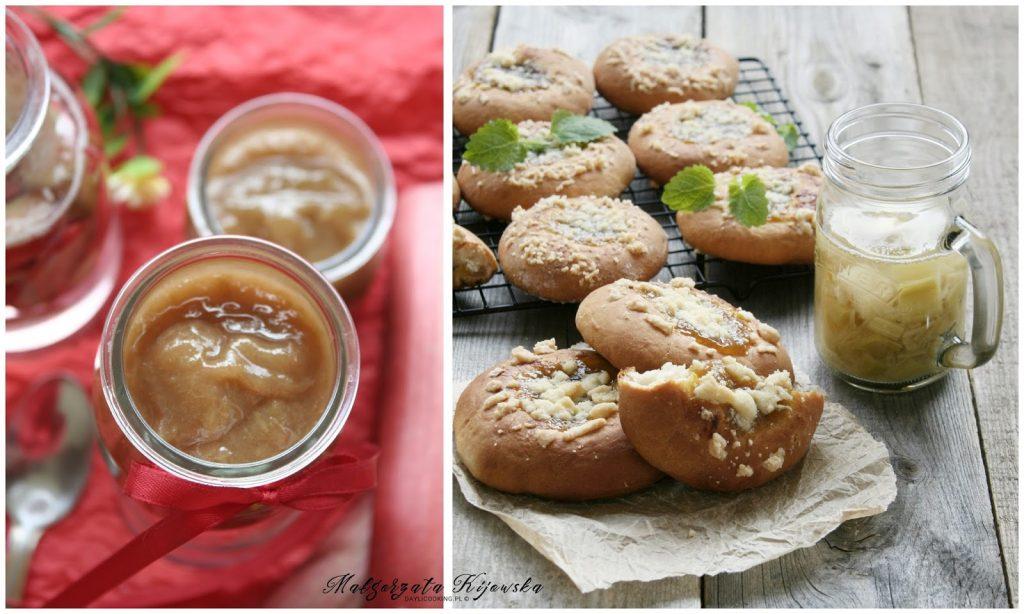 ciasto drożdżowe, rabarbar, dżem, domowe przetwory, daylicooking, Małgorzata Kijowska, jak piec ciasto drożdżowe