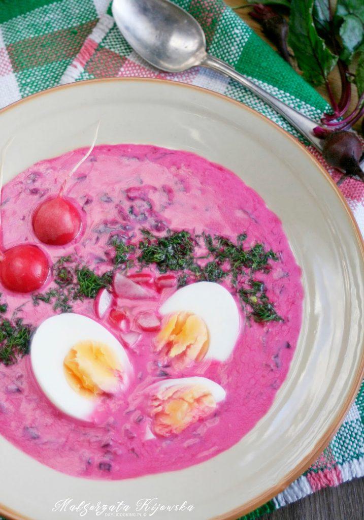 zupa na lato, obiad, buraczki, daylicooking, Małgorzata Kijowska