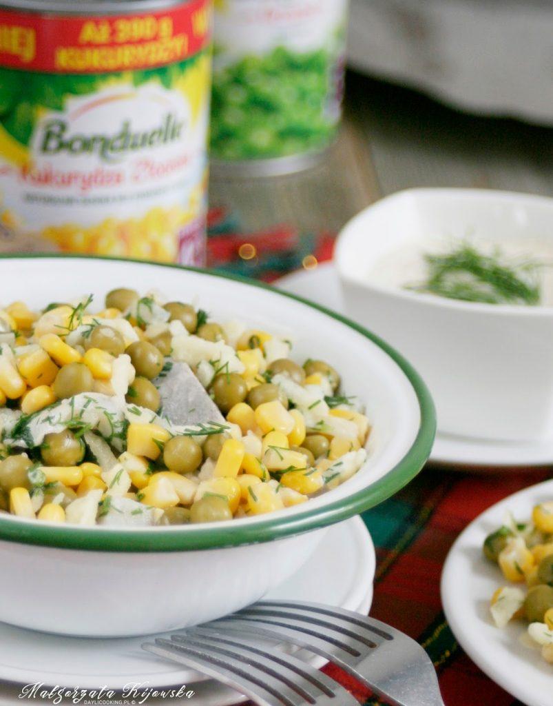 śledziowe sałatki, co na wigilię, świąteczne potrawy, daylicooking, Bonduelle