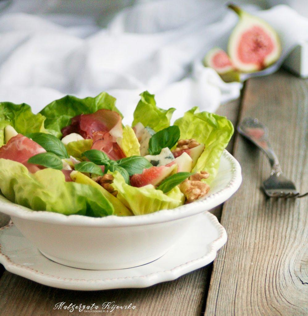 ser gorgonzola, sałatka do pracy, lunch, daylicooking