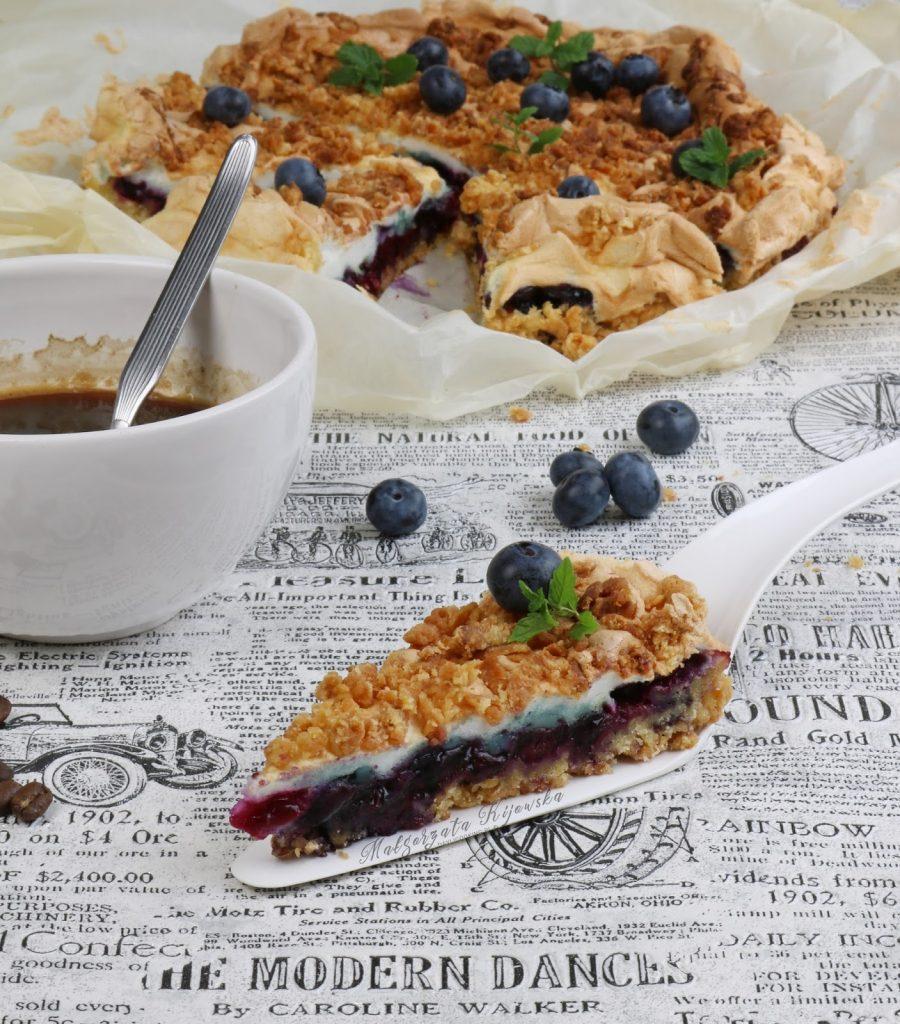 ciasto z borówkami, kruche ciasto z owocami, najlepszy przepis na kruche ciasto, daylicooking, borówka amerykańska