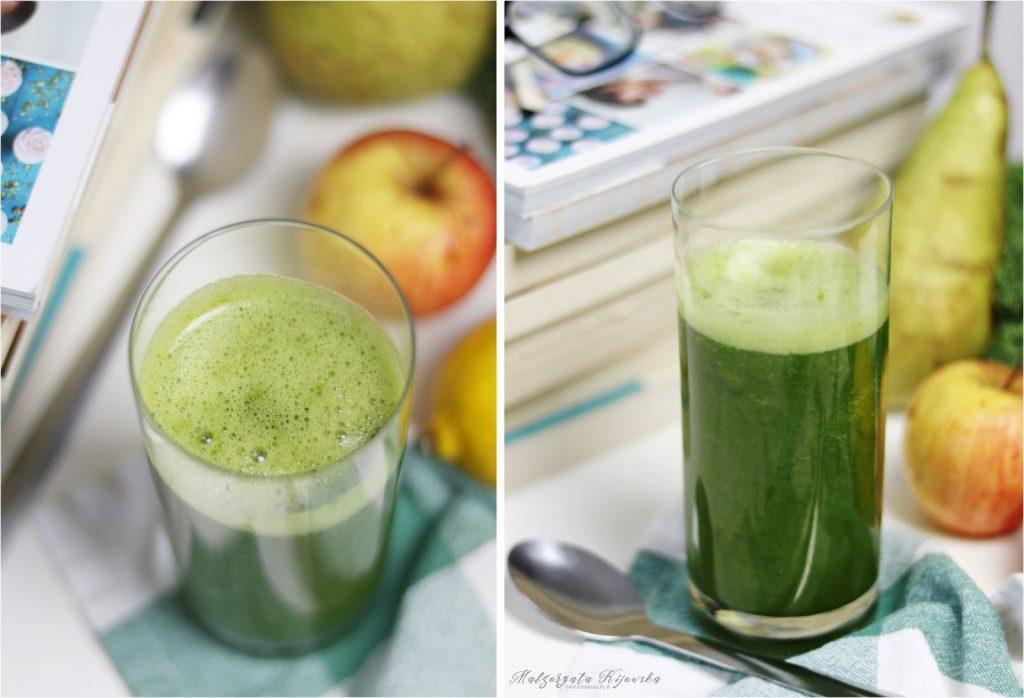 sok z jarmużu i gruszki, zielony sok, domowe soki, zdrowe soki, daylicooking