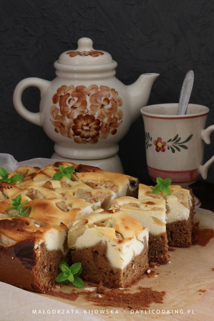 przepis na łatwe ciasto z jabłkami, sernik z jabłkami, kawowe ciasto, daylicooking