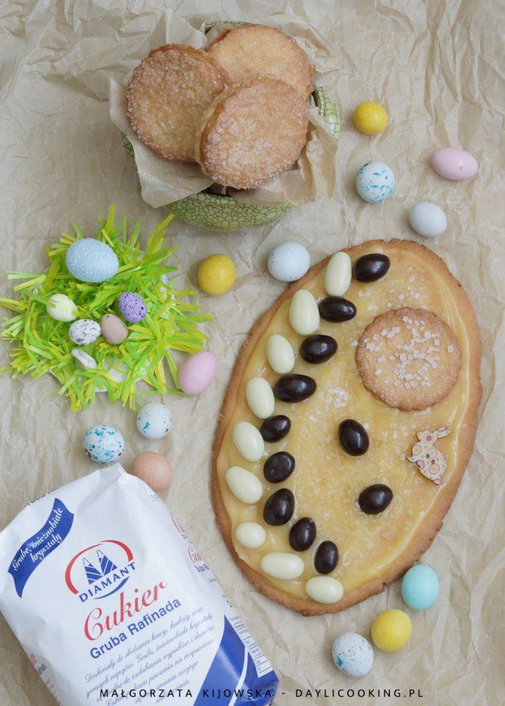 przepis na mazurek, jak zrobić kruche miodowe ciasto, cukier Diamant, daylicooking