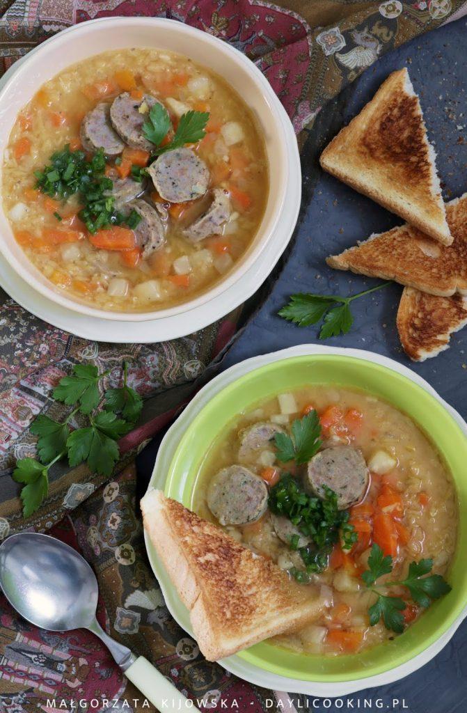 Przepis na zupę z soczewicy, jak się robi zupę z soczewicy, soczewica czerwona, daylicooking