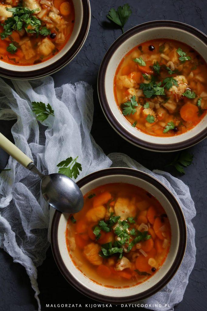 Zupa rybna z morszczuka - prosty przepis