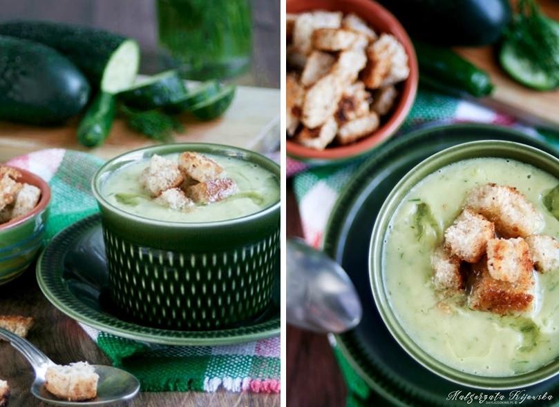 zupa ze świeżych ogórków, zupa bez mięsa, daylicooking