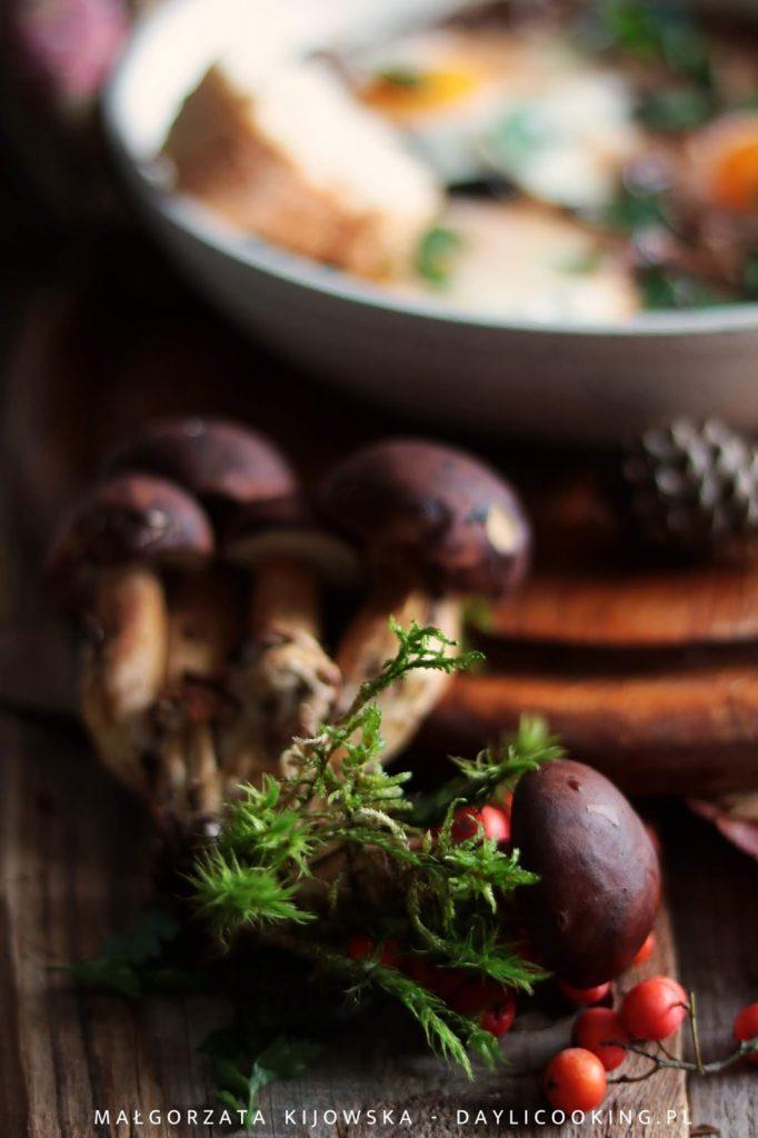 Przepis na szakszukę z grzybami