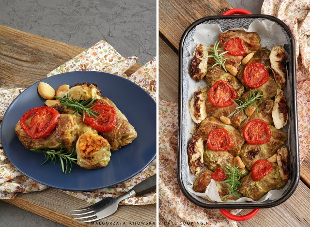 przepis na wegańskie gołąbki, jak zrobić wegetariańskie gołąbki,. przepis na gołąbki bez mięsa, daylicooking