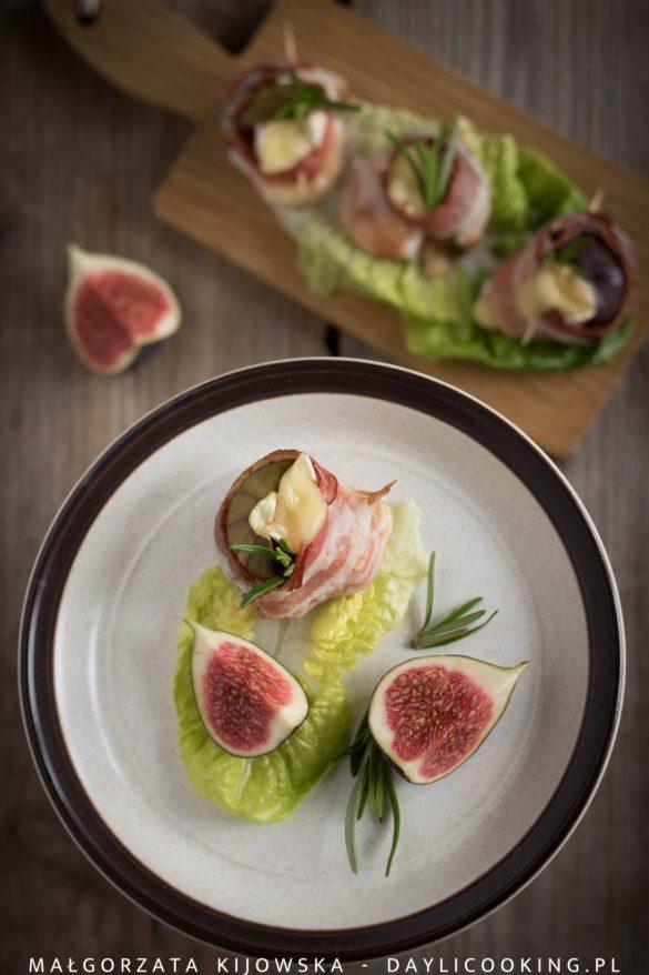 Przepis na figi zapiekane z serem i boczkiem