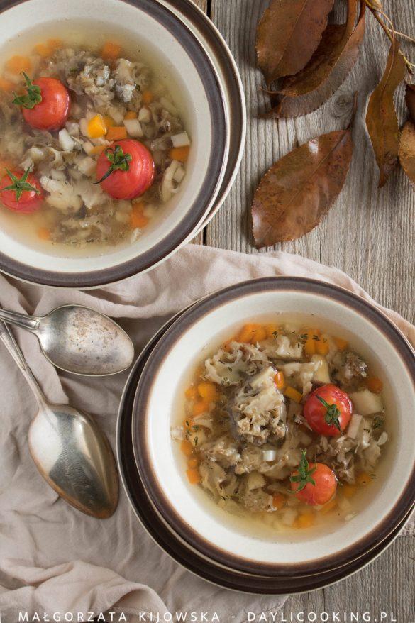 Leśna zupa z kozią brodą - przepis